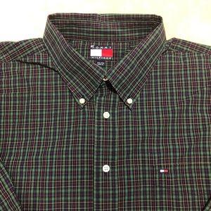 TOMMY HILFIGER Mens XXL Checks Green Shirt #8